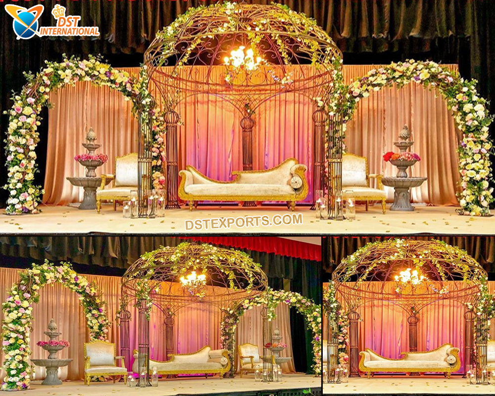 Wrought Iron Wedding Arch Stage Decor - Wedding Stages